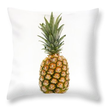 Fresh Pineapple Throw Pillow by Bernard Jaubert