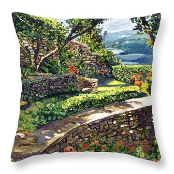 Garden Stairway Throw Pillow