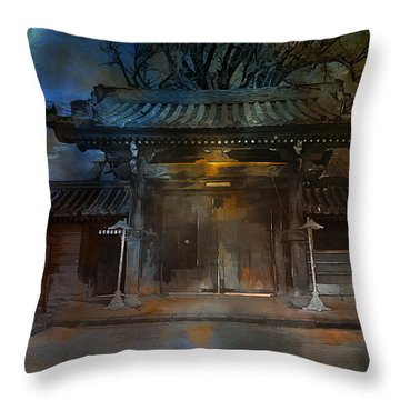 Gate..asian  Moon. Throw Pillow