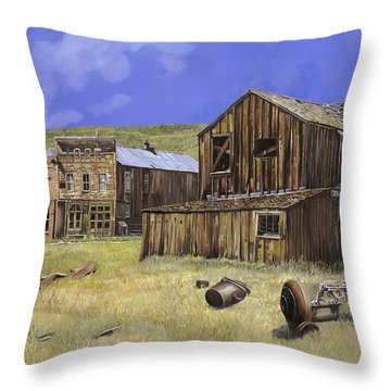 Ghost Town Of Bodie-california Throw Pillow by Guido Borelli