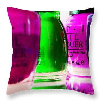 Throw Pillow featuring the photograph  Girly Paint by Everette McMahan jr