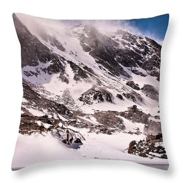 Glass Lake Throw Pillow by Steven Reed