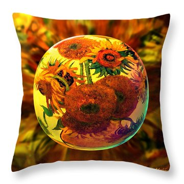 Van Globing Inflorescence Throw Pillow by Robin Moline