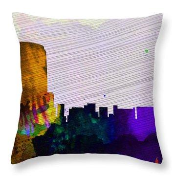 Grand Rapids City Skyline Throw Pillow