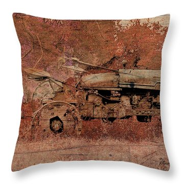 Grandpa's Old Tractor Throw Pillow