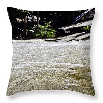 Granite River Throw Pillow by Brian Williamson