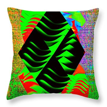 Throw Pillow featuring the digital art  Green With Everything by Gayle Price Thomas