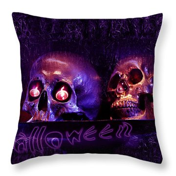 Halloween Party  Throw Pillow by Xueling Zou