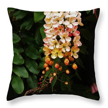 Hanging Blossoms Throw Pillow
