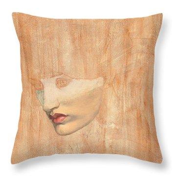 Head Of Proserpine Throw Pillow