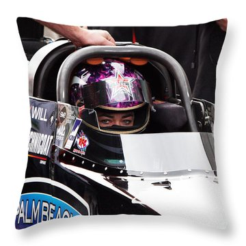 Hillary Will Las Vegas Motor Speed Way Strip Nhra Finals 2008 Throw Pillow by Gunter Nezhoda