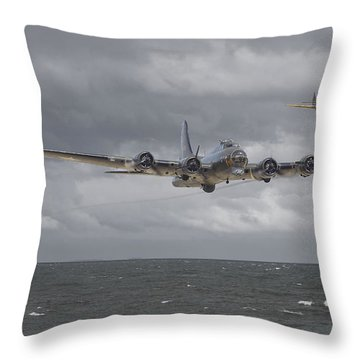 Home The Hard Way Throw Pillow by Pat Speirs