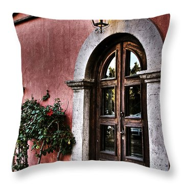 Throw Pillow featuring the photograph  I Left The Light On by Kandy Hurley