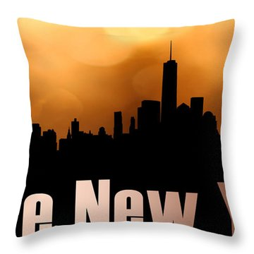 I Love New York Throw Pillow by Tommytechno Sweden