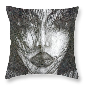 I Will Become With You Throw Pillow by Wojtek Kowalski