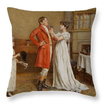 I Wish You Luck Throw Pillow by George Goodwin Kilburne