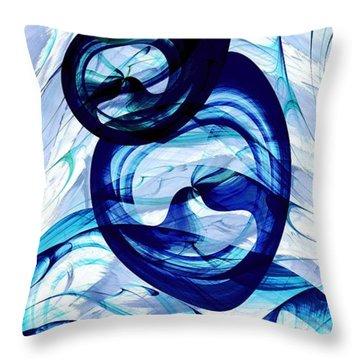 Immiscible Throw Pillow by Anastasiya Malakhova