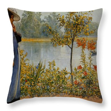 Indian Summer Throw Pillow by Carl Larsson