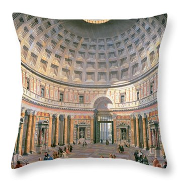 Interior Of The Pantheon Throw Pillow by Panini