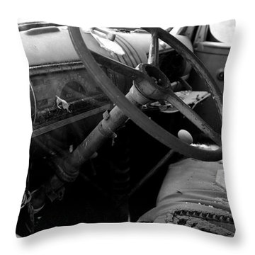 Throw Pillow featuring the photograph  Interiors Past by Randy Pollard