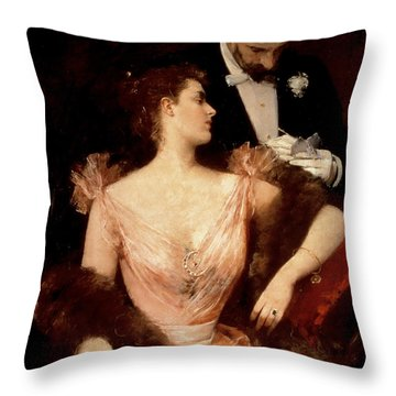 Invitation To The Waltz Throw Pillow by Francesco Miralles Galaup