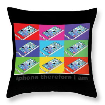Iphone Therefore I Am Throw Pillow