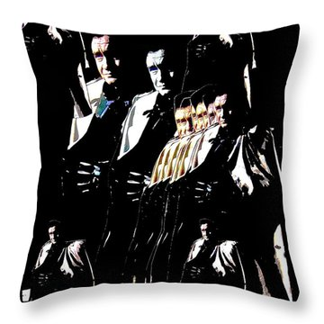Throw Pillow featuring the photograph  Johnny Cash Multiplied  by David Lee Guss