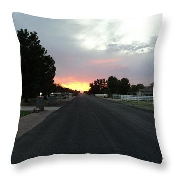 Journey Into The Sunset Throw Pillow by Carla Carson