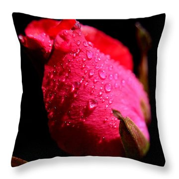 Throw Pillow featuring the photograph  La Rose by Michelle Meenawong