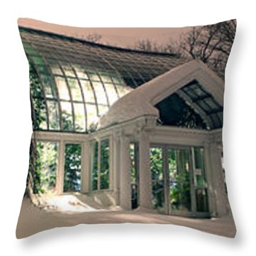Lamberton Conservatory Throw Pillow by Richard Engelbrecht