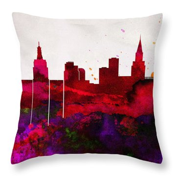 Las Vegas City Skyline Throw Pillow
