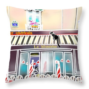Le Mondrian Throw Pillow