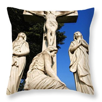 In Mourning...two Throw Pillow by Tom Druin