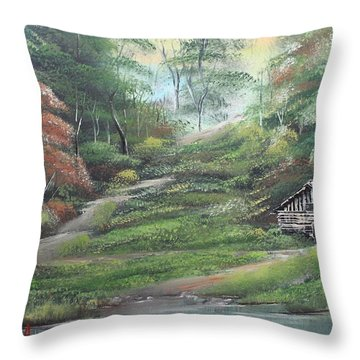 Light Down The River Throw Pillow