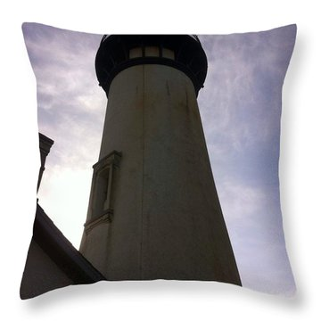 Throw Pillow featuring the photograph  Light House Sky by Susan Garren