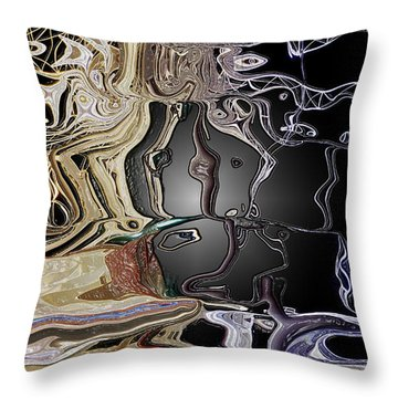 Throw Pillow featuring the photograph  Liquid Metal by Pennie  McCracken