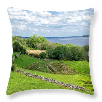 Throw Pillow featuring the photograph  Loch Coirib by Juergen Klust