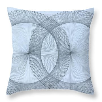 Magnetism Throw Pillow by Jason Padgett