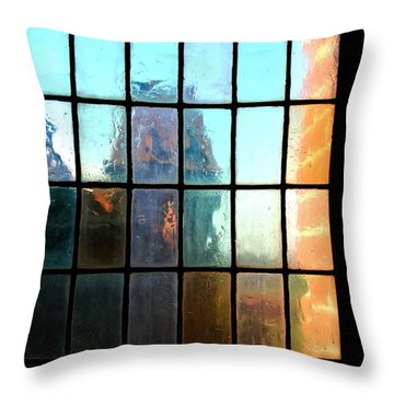 Throw Pillow featuring the photograph  Malbork Castle Poland - Meditation by Jacqueline M Lewis