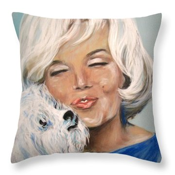 Marilyn And Maf Throw Pillow