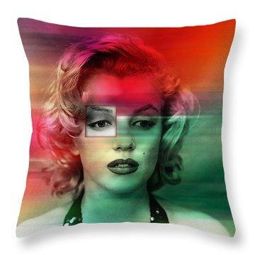 Marilyn Monroe Painting Throw Pillow