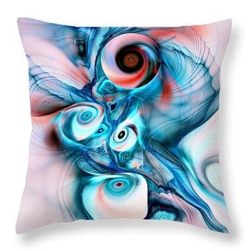 Marshmallow Dragon Throw Pillow by Anastasiya Malakhova
