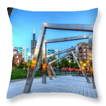 Mary Bartelme Park At Sunset Throw Pillow