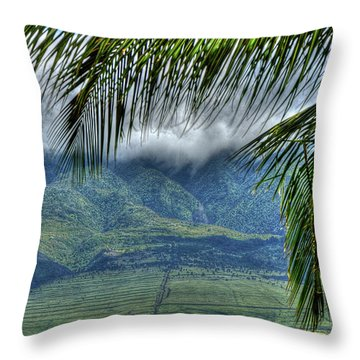 Maui Foot Hills Throw Pillow by Arthur Fix