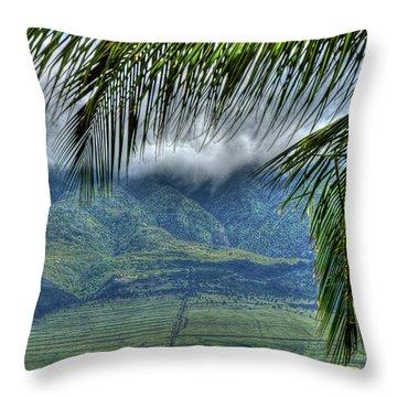 Maui Foot Hills Throw Pillow