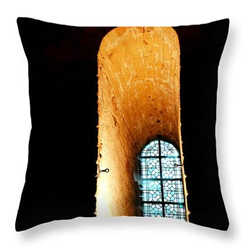 Throw Pillow featuring the photograph  Meditation - Deep Window Mont St Michel by Jacqueline M Lewis