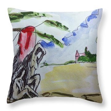 Memory Of  Paul Cezanne Throw Pillow by Hae Kim