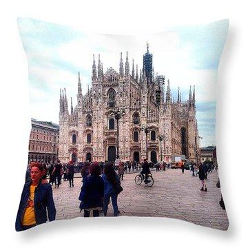 Milano #duomo #trip #nice Throw Pillow by Gianluca Palombi