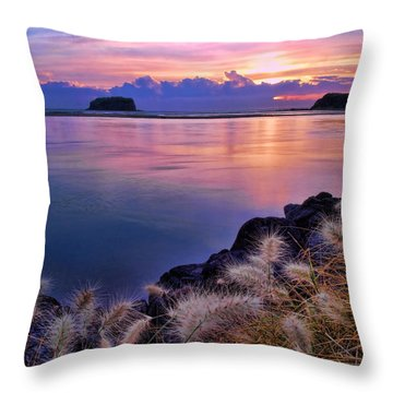 Throw Pillow featuring the photograph  Minnamurra Portrait by Trena Mara