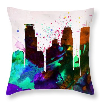 Minneapolis City Skyline Throw Pillow